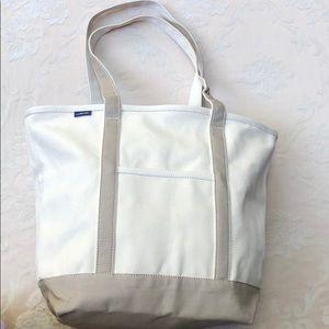 Lands' End Large Open-Top Khaki Canvas Bag